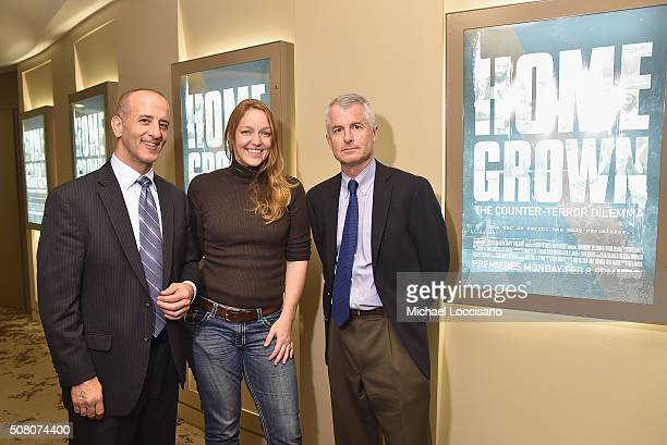 Film subjects Nader Hasan Kerry Cahill and Philip Mudd attend the HBO screening of 'Homegrown The CounterTerror Dilemma' at the HBO Theater on...