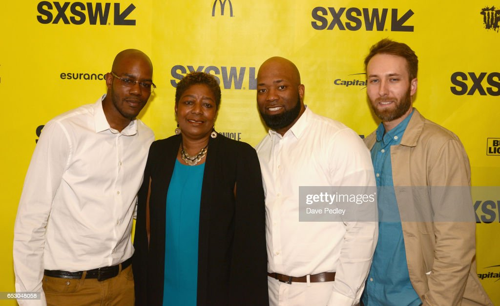 Film subjects Nate Hamilton, Maria Hamilton, Dameion Perkins and Erik Ljung attend the premiere of 'The Blood Is at the Doorstep' during 2017 SXSW Conference and Festivals at Alamo Ritz on March 13, 2017 in Austin, Texas.