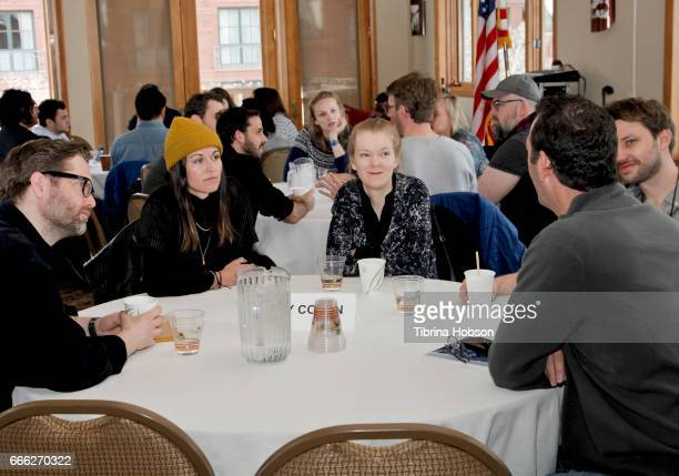 Filmakers Laura Naylor and Marja Pihlaja attend the 2017 Aspen Shortsfest filmmakers breakout sessions on April 7 2017 at Mountain Chalet in Aspen...