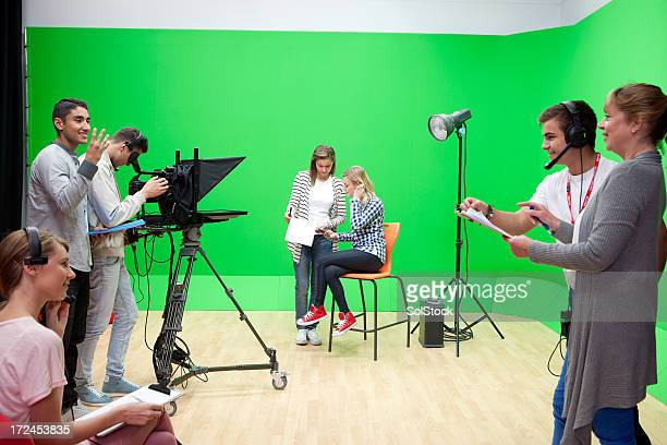 Filming in a Studio