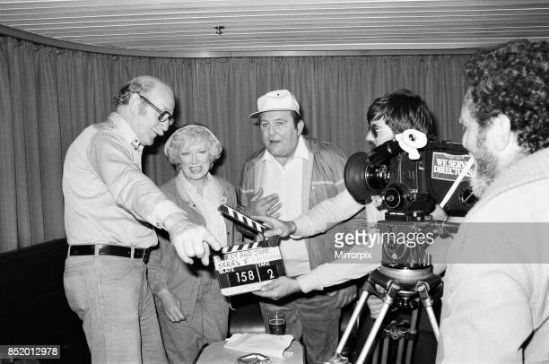 Filming of a series of 'Terry and June' where they go on a day trip to Boulogne actress June Whitfield plays June Medford and Terry Scott plays Terry...