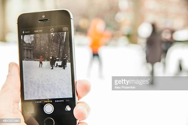 Aufnahmen von Einen Schneemann-Design