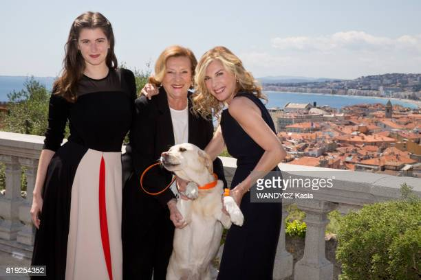 Filming of the first feature film Brillantissime by Michele Laroque the film director and actress Michele Laroque with her daughter Oriane Deschamps...