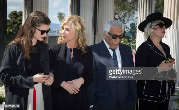 Filming of the first feature film Brillantissime by Michele Laroque with her daughter Oriane Deschamps Gerard Darmon and Rossy De Palma on april 21...