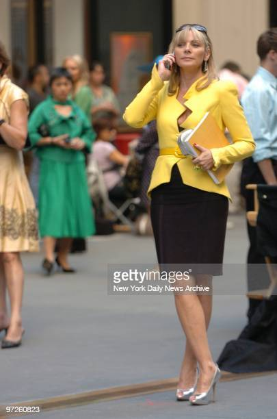 filming Sex And The City at Christies w49th StKim Cattrall