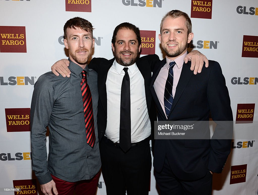 Filmmaker Adam Fitzgerald, producer <a gi-track='captionPersonalityLinkClicked' href=/galleries/search?phrase=Brett+Ratner&family=editorial&specificpeople=206147 ng-click='$event.stopPropagation()'>Brett Ratner</a> and Blake Drummond arrive at the 8th Annual GLSEN Respect Awards held at Beverly Hills Hotel on October 5, 2012 in Beverly Hills, California.