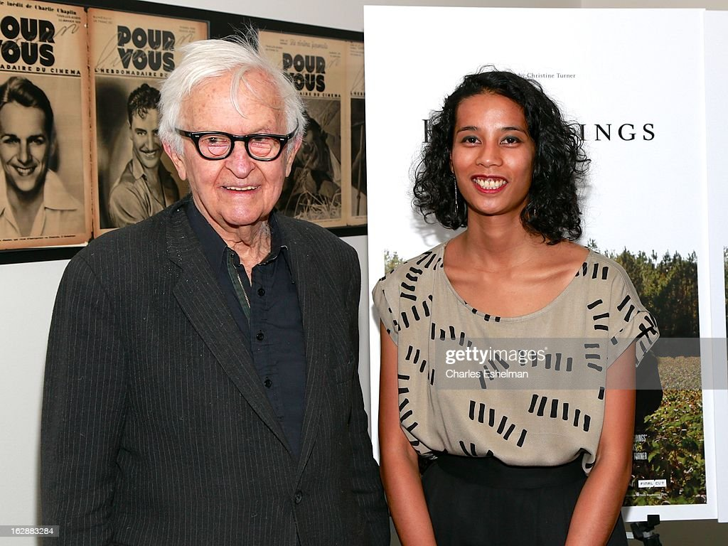Filmmaker <a gi-track='captionPersonalityLinkClicked' href=/galleries/search?phrase=Albert+Maysles&family=editorial&specificpeople=683587 ng-click='$event.stopPropagation()'>Albert Maysles</a> and director Christine Turner attends the 'Homegoings' premiere at The Museum of Modern Art on February 28, 2013 in New York City.