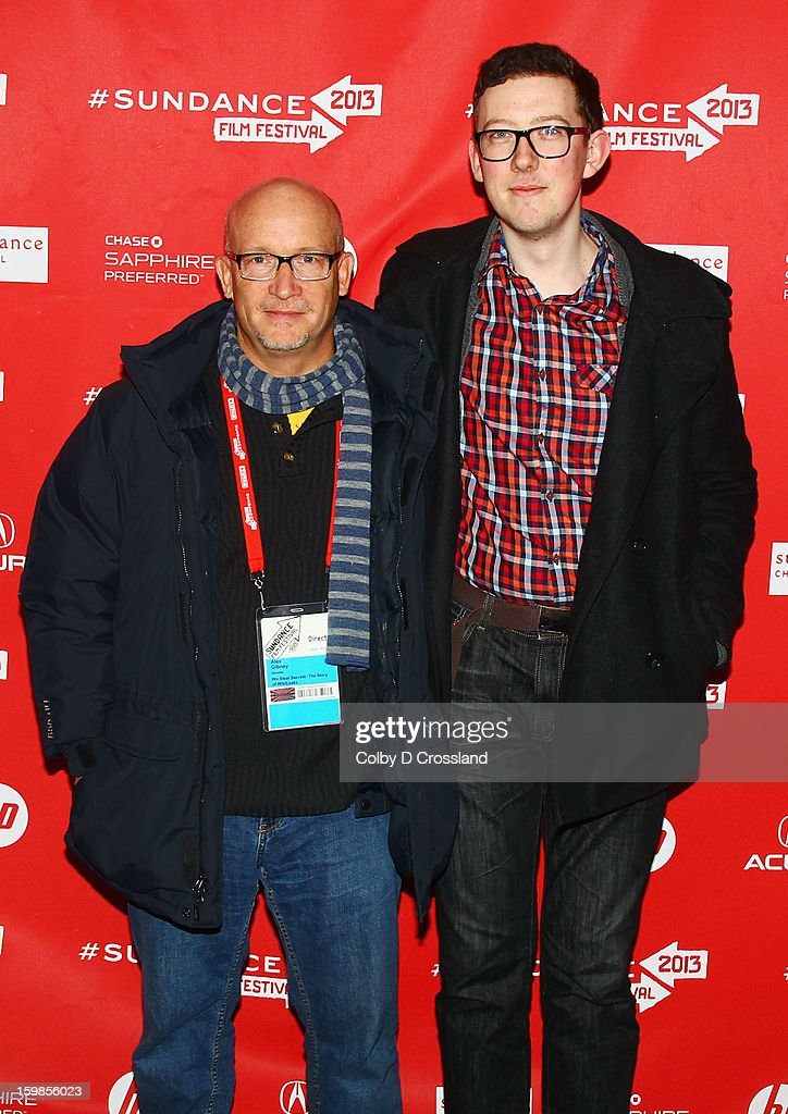 Filmmaker <a gi-track='captionPersonalityLinkClicked' href=/galleries/search?phrase=Alex+Gibney&family=editorial&specificpeople=844225 ng-click='$event.stopPropagation()'>Alex Gibney</a> and James Ball attend the 'We Steal Secrets: The Story Of Wikileaks' premiere at The Marc Theatre during the 2013 Sundance Film Festival on January 21, 2013 in Park City, Utah.