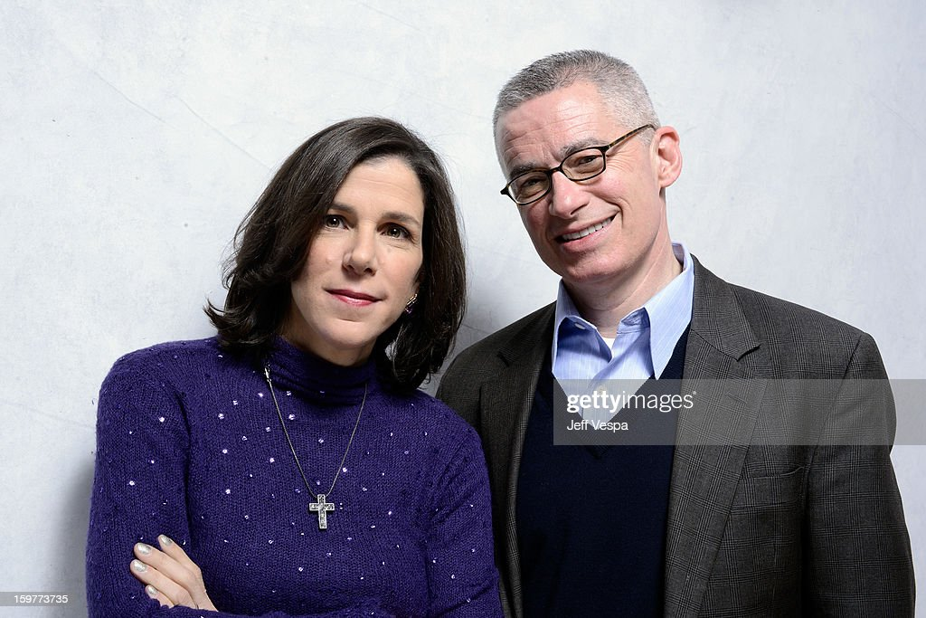 Filmmaker Alexandra Pelosi (L) and Jim McGreevey pose for a portrait during the 2013 Sundance Film Festival at the WireImage Portrait Studio at Village At The Lift on January 20, 2013 in Park City, Utah.