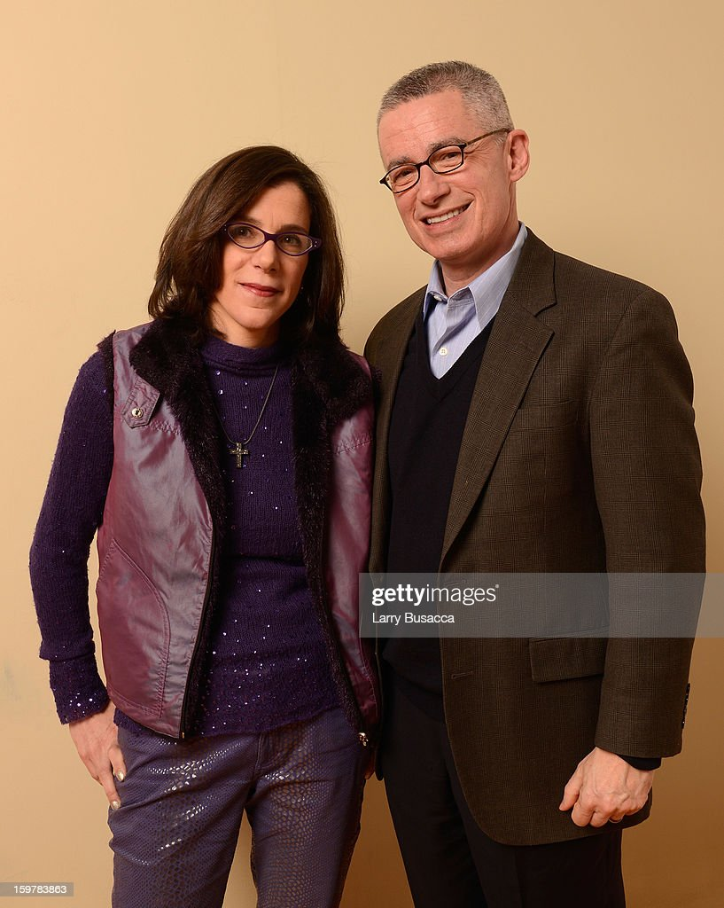 Filmmaker <a gi-track='captionPersonalityLinkClicked' href=/galleries/search?phrase=Alexandra+Pelosi&family=editorial&specificpeople=234453 ng-click='$event.stopPropagation()'>Alexandra Pelosi</a> and Jim McGreevey pose for a portrait during the 2013 Sundance Film Festival at the Getty Images Portrait Studio at Village at the Lift on January 20, 2013 in Park City, Utah.