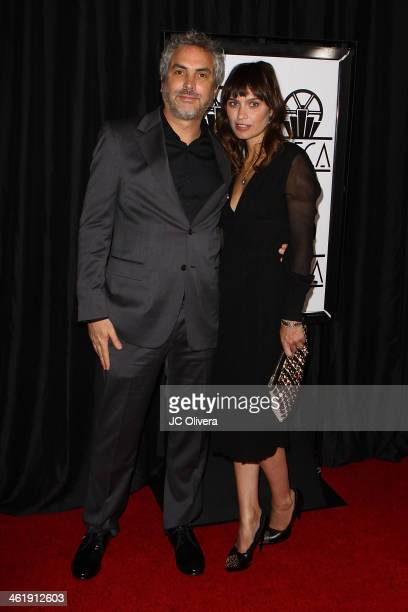 Filmmaker Alfonso Cuaron and author Sheherazade Goldsmith attend The 39th Annual Los Angeles Film Critics Association Awards at InterContinental...