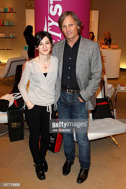 Filmmaker Ana Piterbarg and Actor/ Producer Viggo Mortensen attend Variety Studio Presented By Moroccanoil Day 3 at Holt Renfrew Toronto on September...