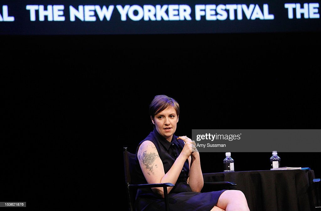 Filmmaker and actress <a gi-track='captionPersonalityLinkClicked' href=/galleries/search?phrase=Lena+Dunham&family=editorial&specificpeople=5836535 ng-click='$event.stopPropagation()'>Lena Dunham</a> speaks at In Coversation: Girl Power for The New Yorker Festival at Acura at SIR Stage37 on October 7, 2012 in New York City.