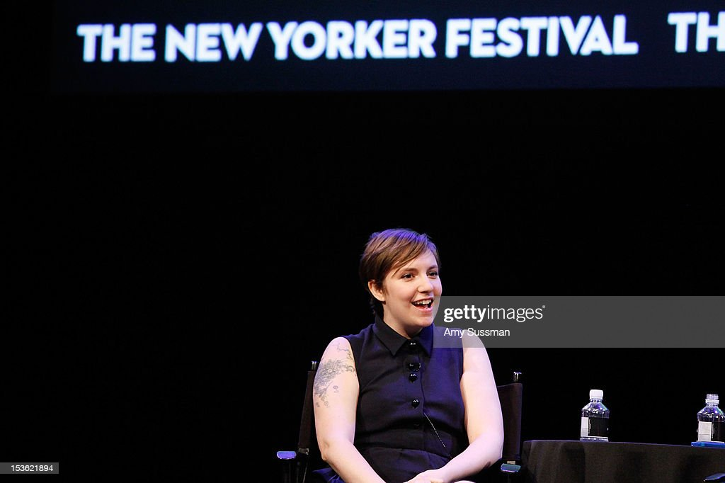 Filmmaker and actress Lena Dunham speaks at In Coversation: Girl Power for The New Yorker Festival at Acura at SIR Stage37 on October 7, 2012 in New York City.