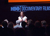 Filmmaker and director Irene Taylor Brodsky speaks onstage at the HBO Documentary 'Open Your Eyes' Special Screening At The Rubin Museum at Rubin...