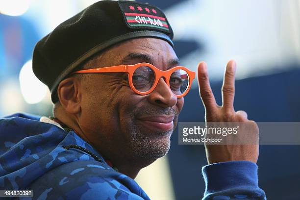 Filmmaker and Grand Marshal of the New York City Marathon Spike Lee attends the 2015 TCS New York City Marathon Opening Press Conference Blue Line...