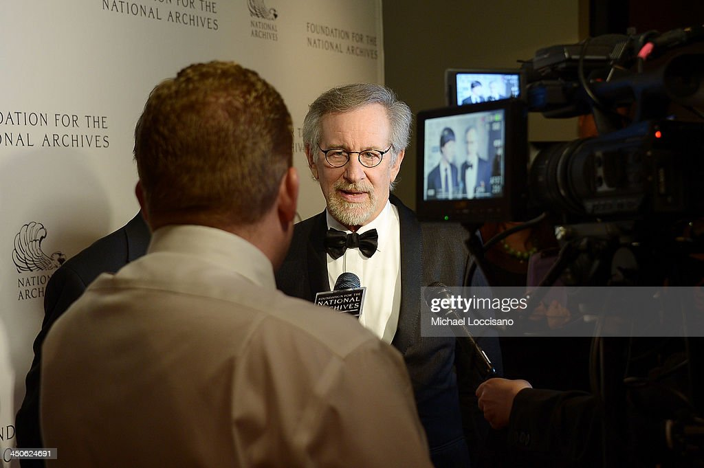 Filmmaker and honoree <a gi-track='captionPersonalityLinkClicked' href=/galleries/search?phrase=Steven+Spielberg&family=editorial&specificpeople=202022 ng-click='$event.stopPropagation()'>Steven Spielberg</a> attends the Foundation for the National Archives 2013 Records of Achievement award ceremony and gala in honor of <a gi-track='captionPersonalityLinkClicked' href=/galleries/search?phrase=Steven+Spielberg&family=editorial&specificpeople=202022 ng-click='$event.stopPropagation()'>Steven Spielberg</a> on November 19, 2013 in Washington, D.C.