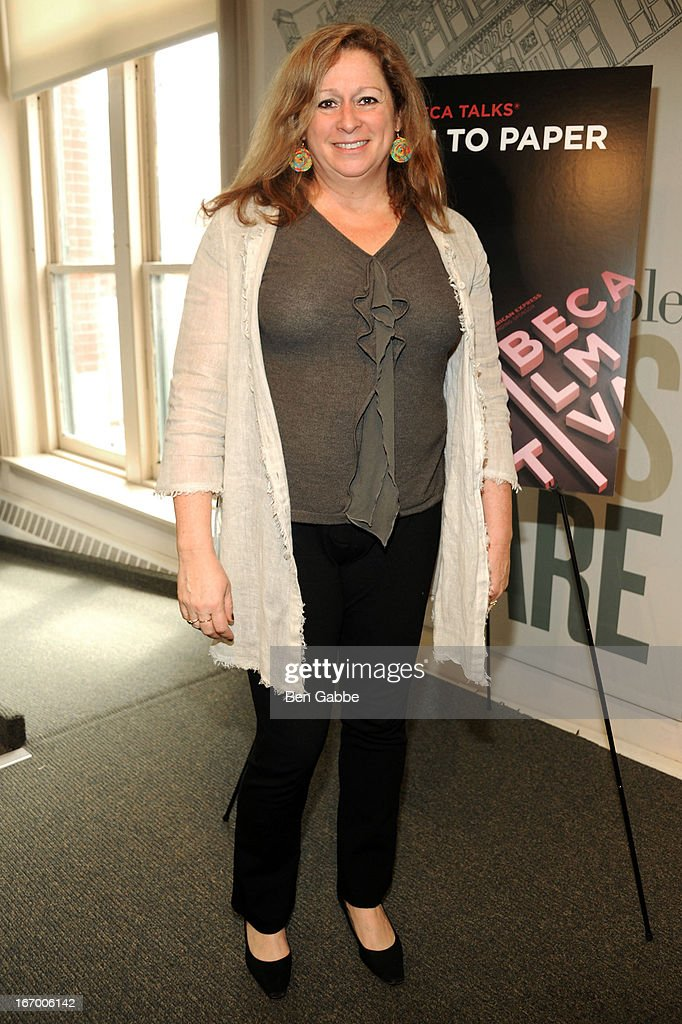 Filmmaker and Scholar <a gi-track='captionPersonalityLinkClicked' href=/galleries/search?phrase=Abigail+Disney&family=editorial&specificpeople=5292033 ng-click='$event.stopPropagation()'>Abigail Disney</a> attends Tribeca Talks Pen To Paper: New Chick Flicks at Barnes & Noble Union Square on April 19, 2013 in New York City.