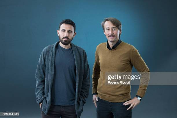 Filmmaker and writer Omar Robert Hamilton and Slovene poet writer editor and literary critic Ales Steger attend a photocall during the annual...
