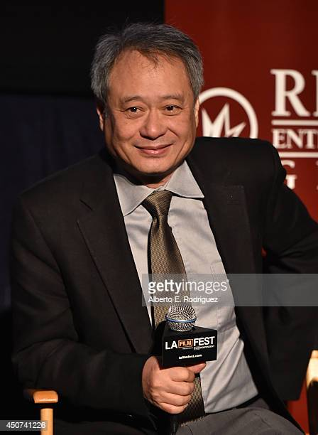 Filmmaker Ang Lee speaks onstage at The Spirit of Independence Award Sony Pictures Classics during the 2014 Los Angeles Film Festival at Regal...