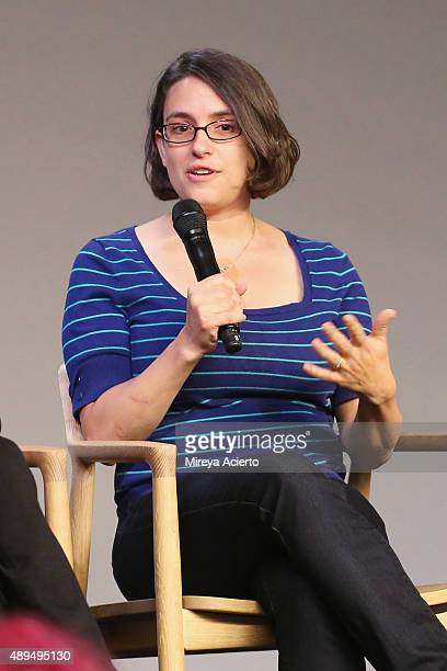 Filmmaker Anna Boden attends Apple Store Soho Presents Meet The Actor Ryan Reynolds 'Mississippi Grind' at Apple Store Soho on September 21 2015 in...