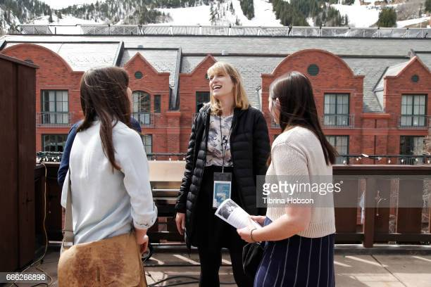 Filmmaker Annabel Oakes attends the 2017 Aspen Shortsfest filmmakers breakout sessions on April 7 2017 at Mountain Chalet in Aspen Colorado