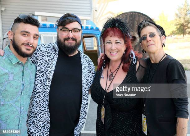 Filmmaker Annie Sprinkle appears with friends for her film Water Makes Us Wet at the Santa Cruz Film Festival at Tannery Arts Center on October 15...