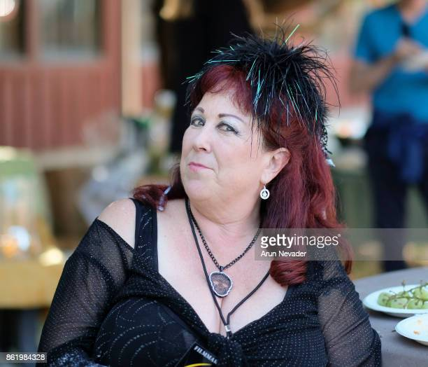 Filmmaker Annie Sprinkle attends her after party following the screening of her film Water Makes Us Wet at the Santa Cruz Film Festival at Tannery...