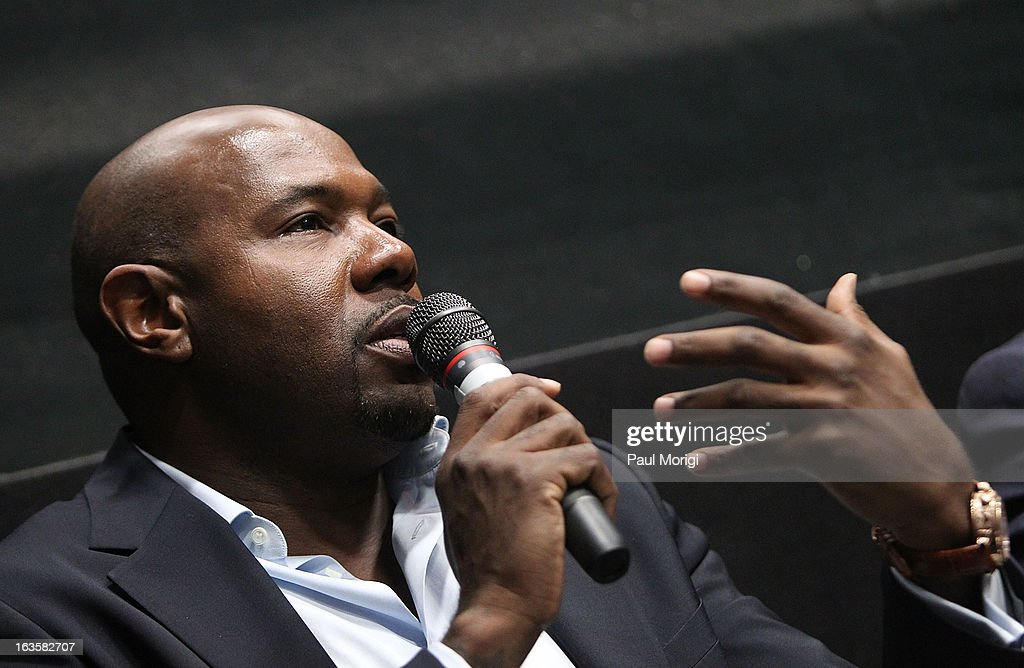Filmmaker Antoine Fuqua attends the 'Olympus Has Fallen' screening Q & A at AMC Loews Georgetown 14 on March 12, 2013 in Washington, DC.