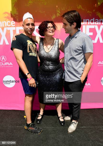 Filmmaker Antonio Santini Dina Buno and filmmaker Dan Sickles attend 2017 Sundance NEXT FEST at The Theater at The Ace Hotel on August 13 2017 in Los...