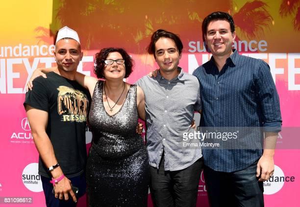 Filmmaker Antonio Santini Dina Buno filmmaker Dan Sickles and EVP of The Orchard Paul Davidson attend 2017 Sundance NEXT FEST at The Theater at The...