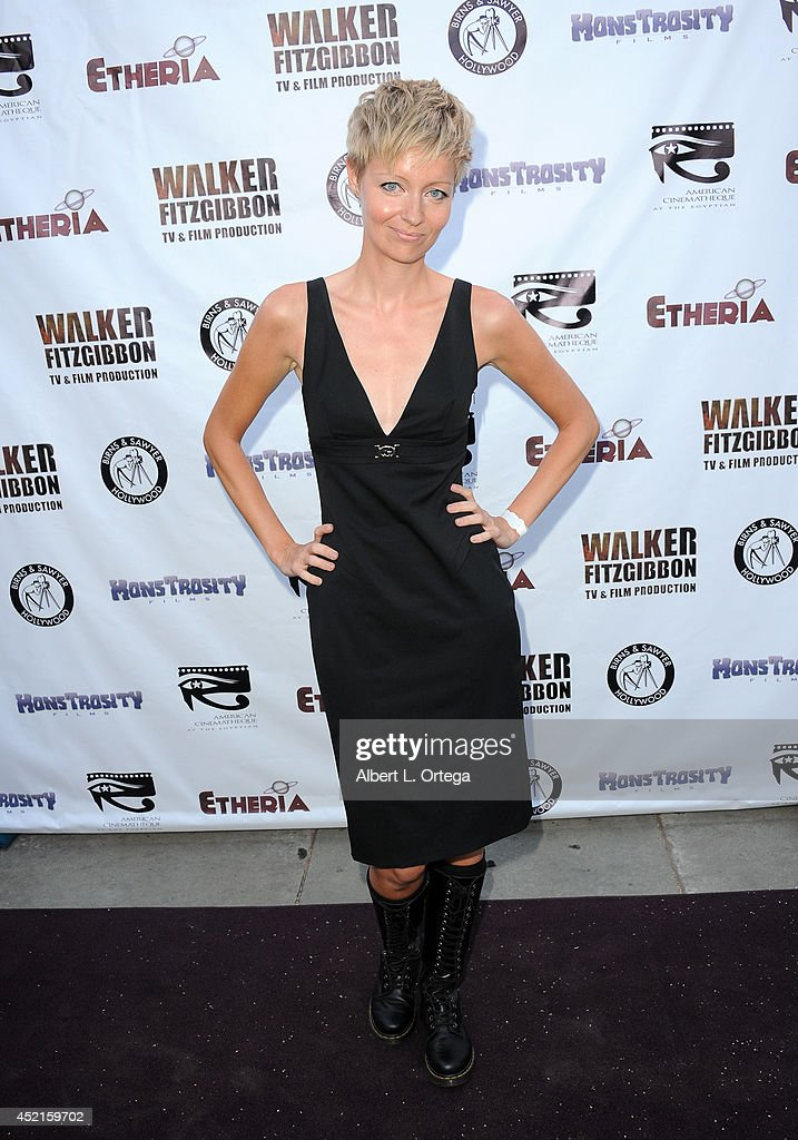 Filmmaker Axelle Carolyn arrives for the 2014 Etheria Film Night held at American Cinematheque's Egyptian Theatre on July 12, 2014 in Hollywood, California.