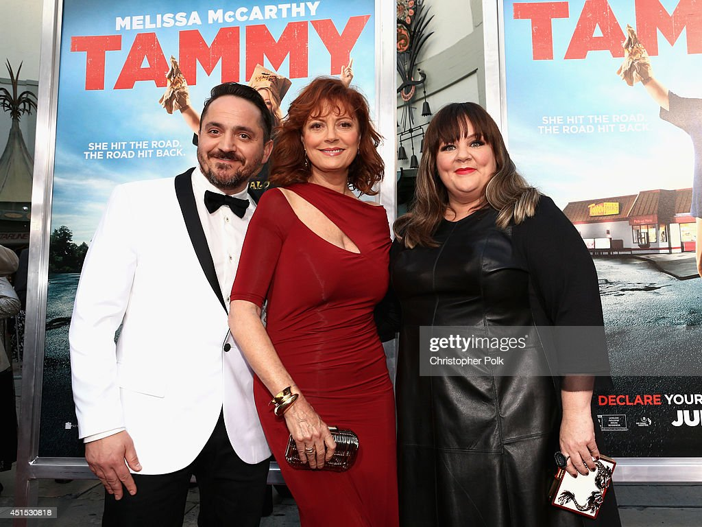 Filmmaker <a gi-track='captionPersonalityLinkClicked' href=/galleries/search?phrase=Ben+Falcone&family=editorial&specificpeople=4068633 ng-click='$event.stopPropagation()'>Ben Falcone</a>, actress <a gi-track='captionPersonalityLinkClicked' href=/galleries/search?phrase=Susan+Sarandon&family=editorial&specificpeople=202474 ng-click='$event.stopPropagation()'>Susan Sarandon</a> and filmmaker <a gi-track='captionPersonalityLinkClicked' href=/galleries/search?phrase=Melissa+McCarthy&family=editorial&specificpeople=880291 ng-click='$event.stopPropagation()'>Melissa McCarthy</a> attend the 'Tammy' Los Angeles premiere at TCL Chinese Theatre on June 30, 2014 in Hollywood, California.