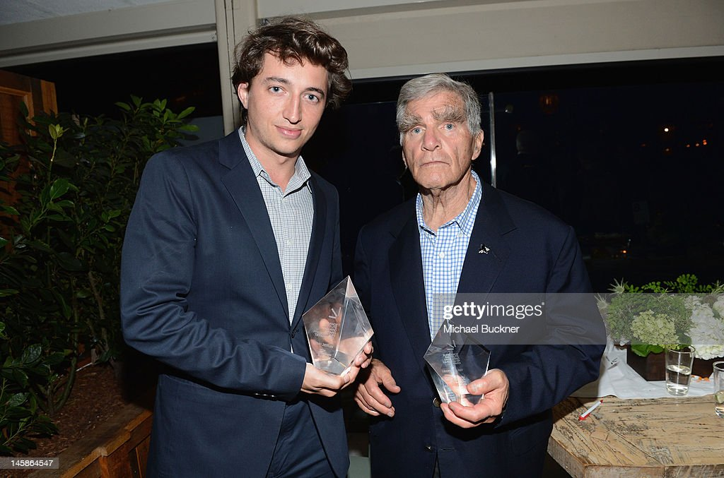 Filmmaker <a gi-track='captionPersonalityLinkClicked' href=/galleries/search?phrase=Benh+Zeitlin&family=editorial&specificpeople=6711208 ng-click='$event.stopPropagation()'>Benh Zeitlin</a> (L) and George Gund attend the Sundance Institute Benefit presented by Tiffany & Co. in Los Angeles held at Soho House on June 6, 2012 in West Hollywood, California.