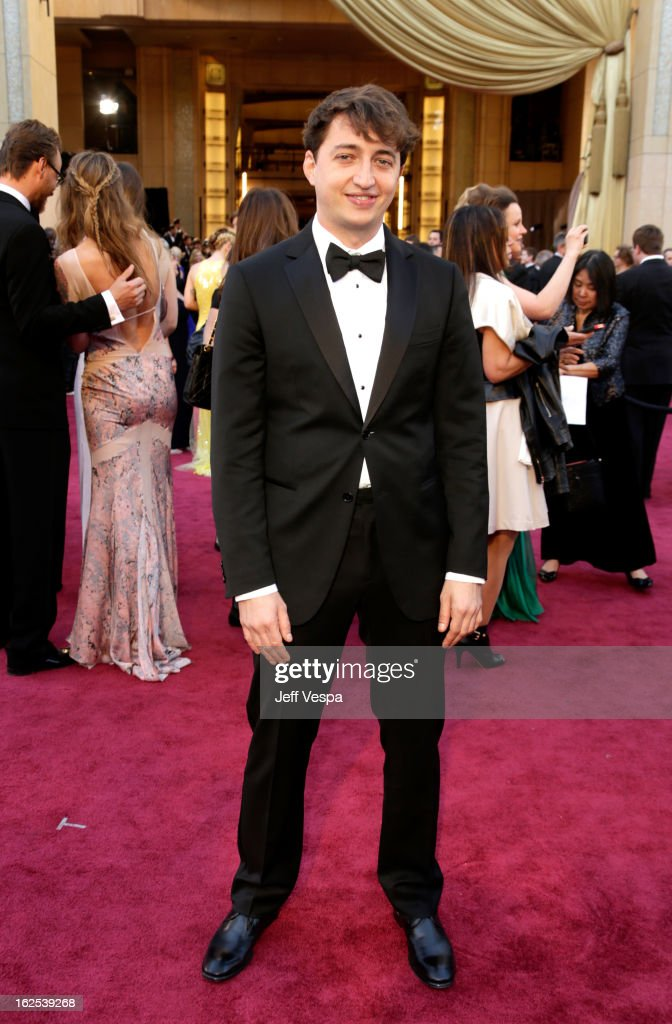 Filmmaker <a gi-track='captionPersonalityLinkClicked' href=/galleries/search?phrase=Benh+Zeitlin&family=editorial&specificpeople=6711208 ng-click='$event.stopPropagation()'>Benh Zeitlin</a> arrives at the Oscars at Hollywood & Highland Center on February 24, 2013 in Hollywood, California.