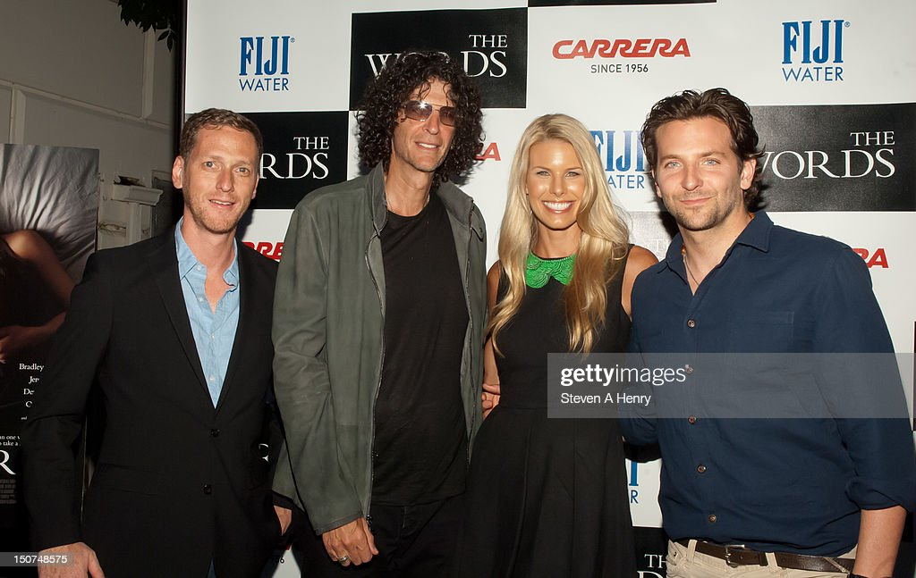 Filmmaker Brian Klugman, <a gi-track='captionPersonalityLinkClicked' href=/galleries/search?phrase=Howard+Stern+-+Media+Personality&family=editorial&specificpeople=211543 ng-click='$event.stopPropagation()'>Howard Stern</a>, <a gi-track='captionPersonalityLinkClicked' href=/galleries/search?phrase=Beth+Ostrosky&family=editorial&specificpeople=212785 ng-click='$event.stopPropagation()'>Beth Ostrosky</a> Stern and actor <a gi-track='captionPersonalityLinkClicked' href=/galleries/search?phrase=Bradley+Cooper&family=editorial&specificpeople=680224 ng-click='$event.stopPropagation()'>Bradley Cooper</a> attends 'The Words' screening at Goose Creek on August 25, 2012 in East Hampton, New York.