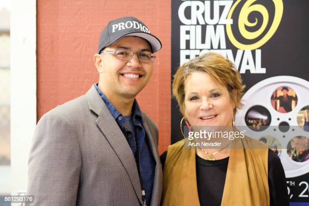 Filmmaker Brian Vidal and Tere Carrubba granddaughter of Alfred Hitchcock appear for the film Prodigy at the Santa Cruz Film Festival at Tannery Arts...