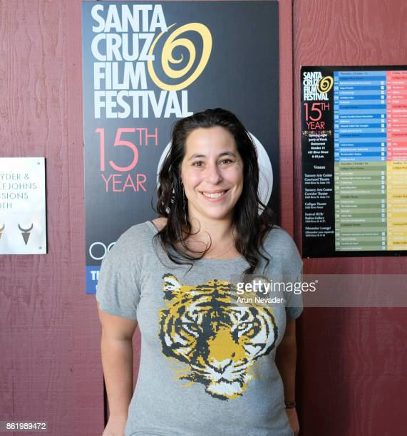 Filmmaker Cambria Matlow appears for her film Woodsrider at the Santa Cruz Film Festival at Tannery Arts Center on October 15 2017 in Santa Cruz...