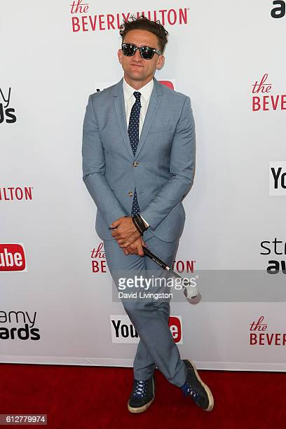 Filmmaker Casey Neistat arrives at the 2016 Streamy Awards at The Beverly Hilton Hotel on October 4 2016 in Beverly Hills California