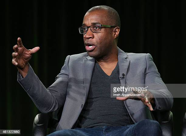 Filmmaker Clement Virgo speaks onstage during the Viacom Winter Television Critics Association press tour at The Langham Huntington Hotel and Spa on...