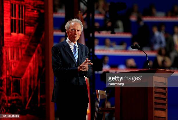 Filmmaker Clint Eastwood prepares to speak at the Republican National Convention in Tampa Florida US on Thursday Aug 30 2012 Republican presidential...