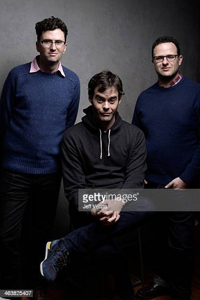 Filmmaker Craig Johnson actor Bill Hader and screenwriter Mark Heyman pose for a portrait during the 2014 Sundance Film Festival at the WireImage...