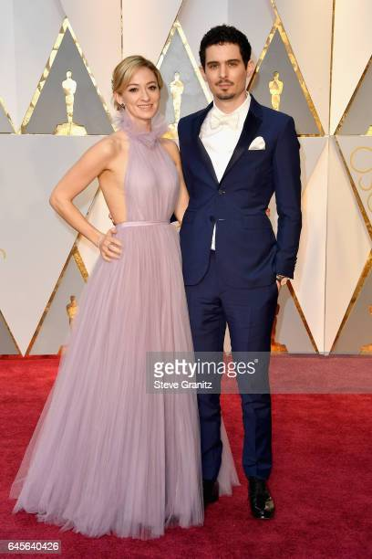 Filmmaker Damien Chazelle and Olivia Hamilton attend the 89th Annual Academy Awards at Hollywood Highland Center on February 26 2017 in Hollywood...