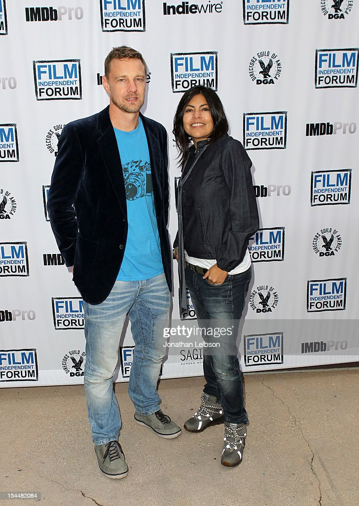 Filmmaker Dan Fallshaw and Director Violeta Ayala attend the Film Independent Film Forum at Directors Guild of America on October 20, 2012 in Los Angeles, California.