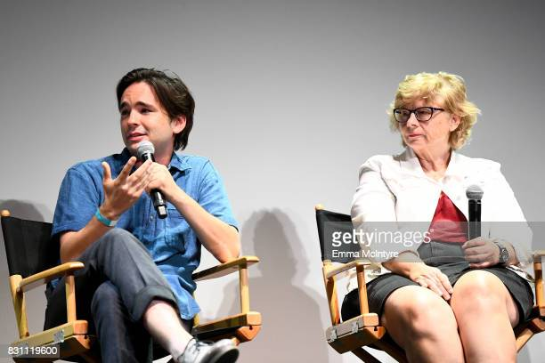 Filmmaker Dan Sickles and Darlene Anderson speak onstage at 2017 Sundance NEXT FEST at The Theater at The Ace Hotel on August 13 2017 in Los Angeles...