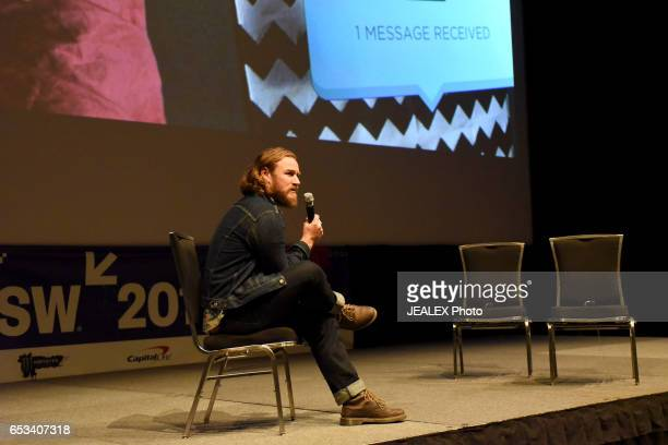 Filmmaker Darcy Pendergast speaks onstage at 'Vimeo Staff Picks Live Director's Commentary' during 2017 SXSW Conference and Festivals at Vimeo on...