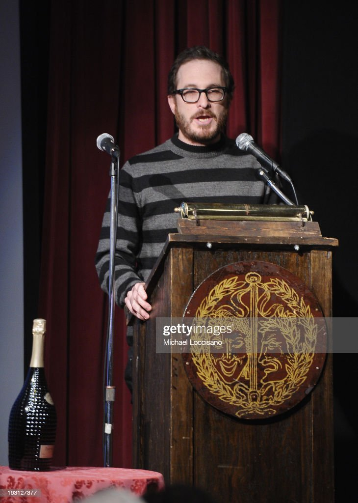 Filmmaker Darren Aronofsky addresses the audience during the 2013 First Time Fest closing night awards at The Players Club on March 4, 2013 in New York City.