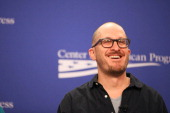 Filmmaker Darren Aronofsky in a panel discussion on 'Noah' and the Nexus of Faith and Environmentalism at the Center For American Progress on April...