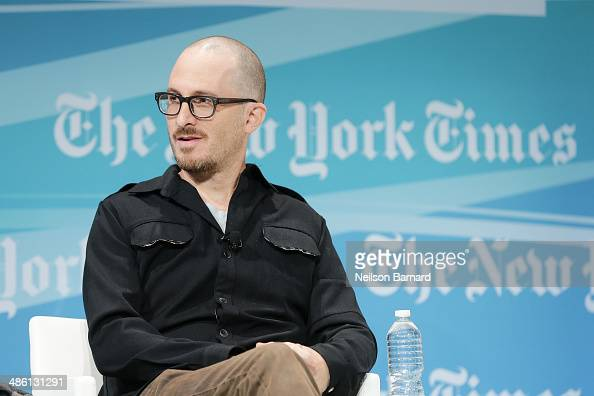 Filmmaker Darren Aronofsky participates in a panel discussion at the New York Times Cities for Tomorrow Conference on April 22 2014 in New York City