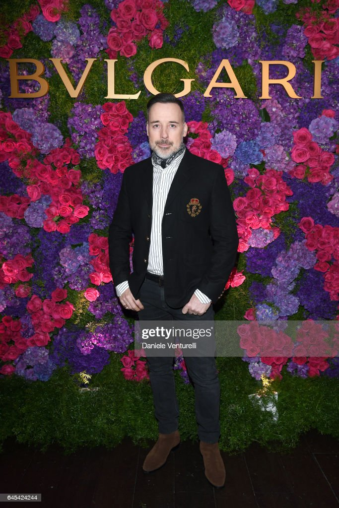 Filmmaker David Furnish attends Bulgari's Pre-Oscar Dinner at Chateau Marmont on February 25, 2017 in Hollywood, United States.
